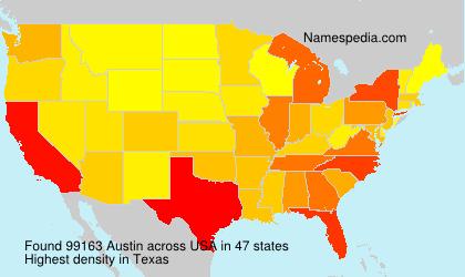 Familiennamen Austin - USA