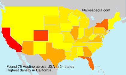 Surname Austine in USA