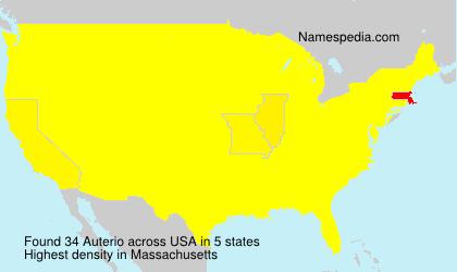 Surname Auterio in USA