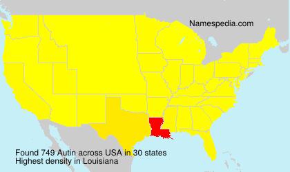 Surname Autin in USA
