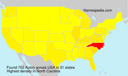 Familiennamen Auton - USA