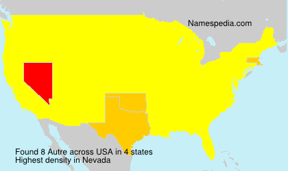 Surname Autre in USA