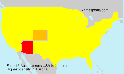 Surname Auzas in USA