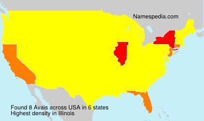 Familiennamen Avais - USA