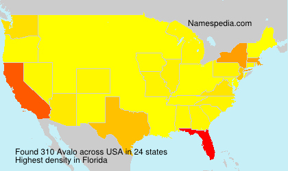 Surname Avalo in USA