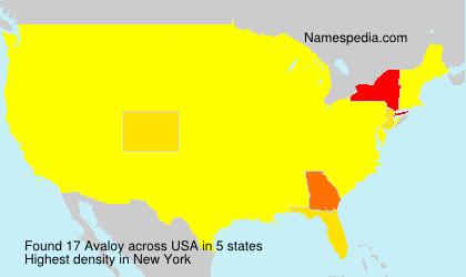 Familiennamen Avaloy - USA