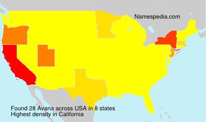 Familiennamen Avana - USA