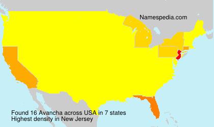 Familiennamen Avancha - USA