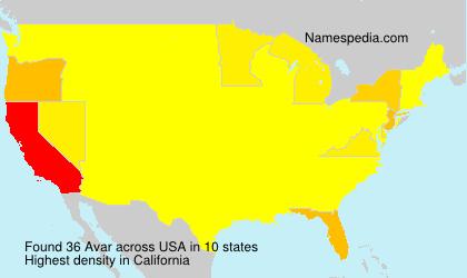 Surname Avar in USA