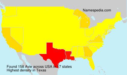 Surname Avie in USA