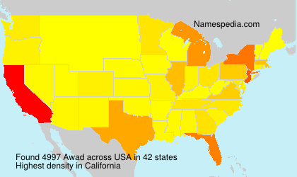 Surname Awad in USA