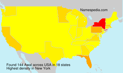 Surname Awal in USA