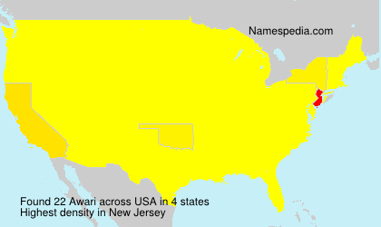 Surname Awari in USA
