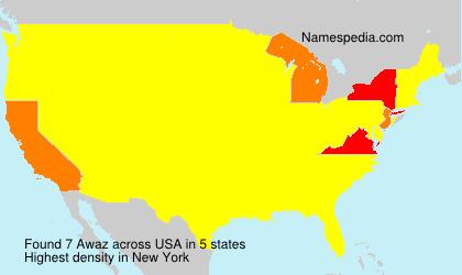 Surname Awaz in USA