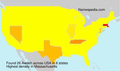 Surname Awdeh in USA