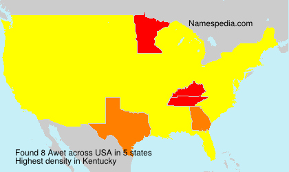 Surname Awet in USA