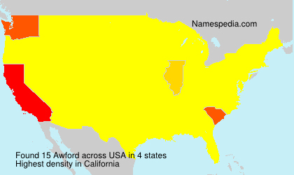 Surname Awford in USA