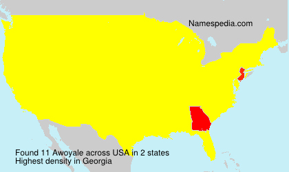 Surname Awoyale in USA