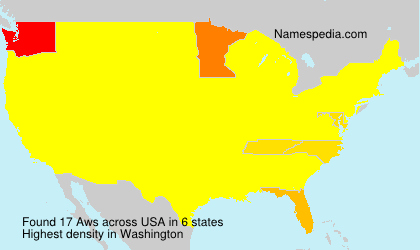 Surname Aws in USA