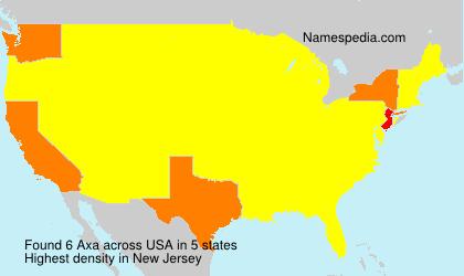 Familiennamen Axa - USA