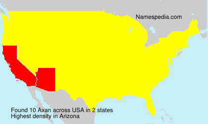 Surname Axan in USA