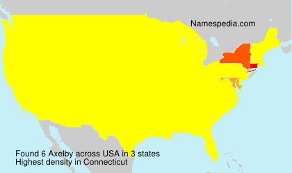 Surname Axelby in USA