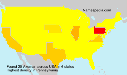 Surname Axeman in USA