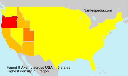 Surname Axenty in USA