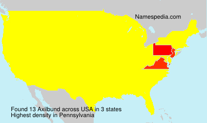 Surname Axilbund in USA