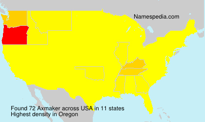 Surname Axmaker in USA