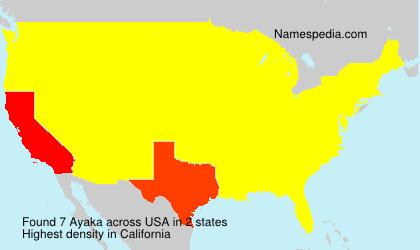 Surname Ayaka in USA