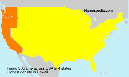 Surname Ayame in USA