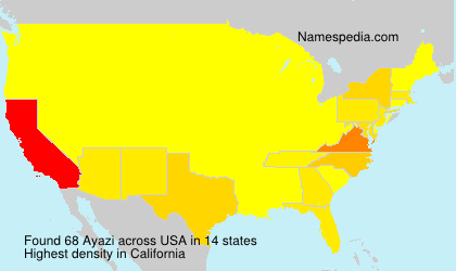 Surname Ayazi in USA