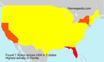 Surname Ayazo in USA
