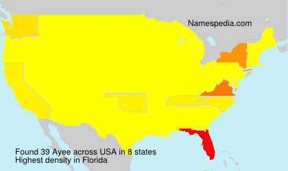 Surname Ayee in USA