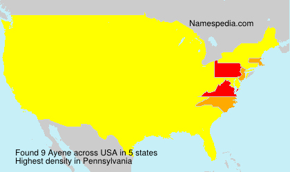 Surname Ayene in USA