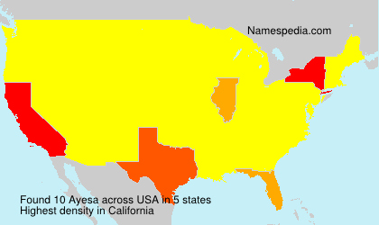 Surname Ayesa in USA