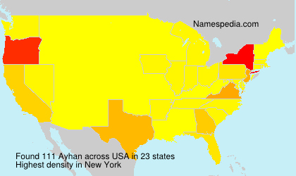 Surname Ayhan in USA