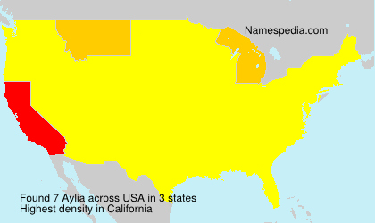 Surname Aylia in USA