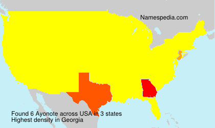 Surname Ayonote in USA