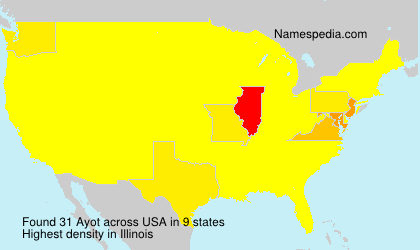 Surname Ayot in USA