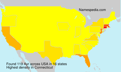 Surname Ayr in USA