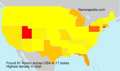 Familiennamen Ayrton - USA
