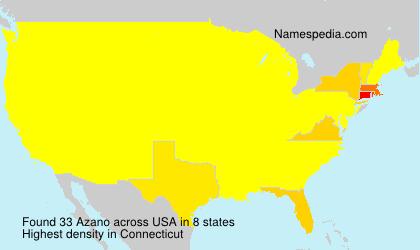 Surname Azano in USA