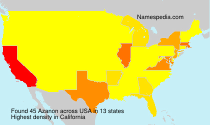 Surname Azanon in USA
