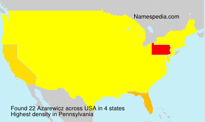 Surname Azarewicz in USA