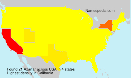 Familiennamen Azarfar - USA