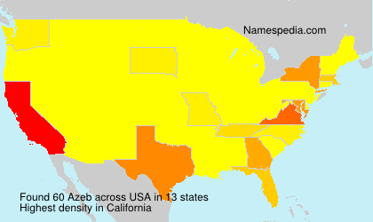 Surname Azeb in USA
