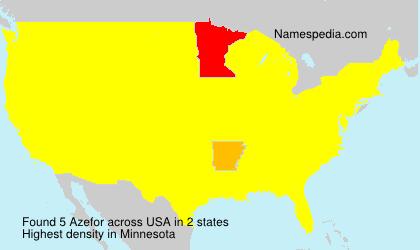 Familiennamen Azefor - USA