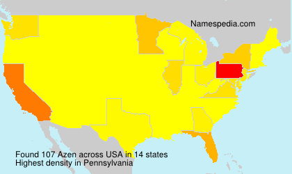 Surname Azen in USA